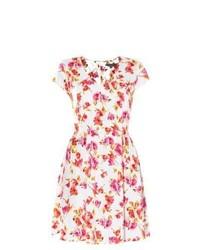 New Look White Floral Print Tea Dress