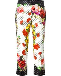 Dolce & Gabbana Multi Print Cropped Trousers