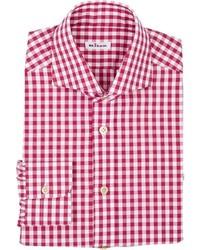Kiton Gingham Shirt Pink