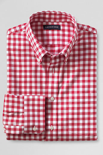 Lands 39 End Tall Tailored Fit No Iron Twill Shirt Where