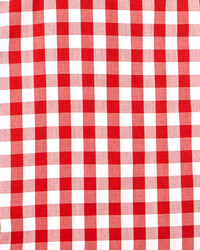 Kiton Large Gingham Dress Shirt Red
