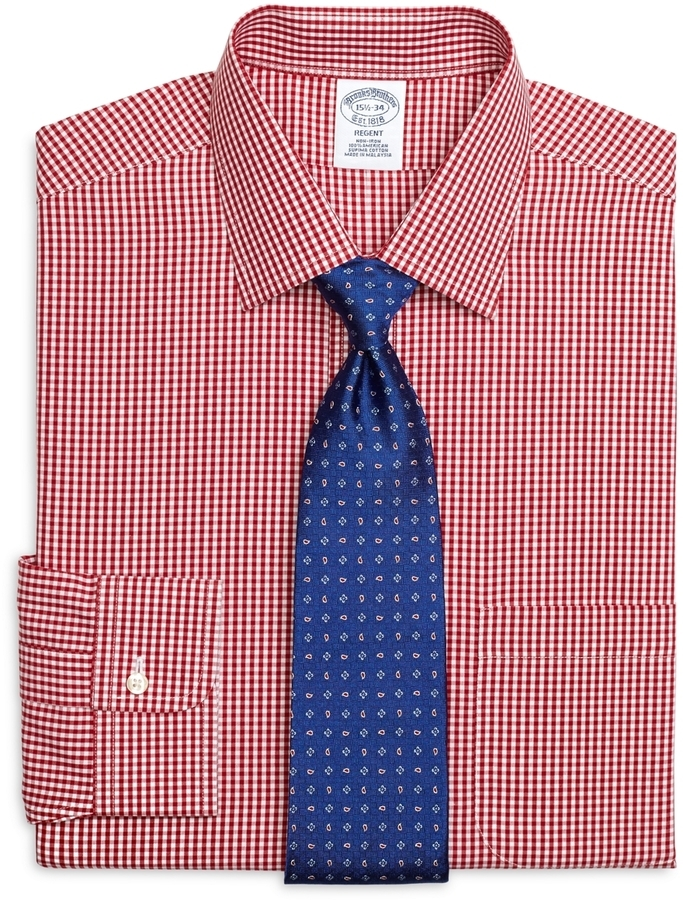 af412978a4c Brooks Brothers Non Iron Regent Fit Gingham Dress Shirt, $92 ...