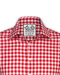 Thomas Pink Plato Check Shirt Button Cuff