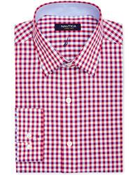 Nautica Red Gingham Dress Shirt