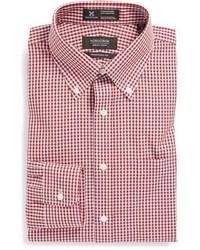 Nordstrom Smartcaretm Wrinkle Free Traditional Fit Gingham Dress Shirt