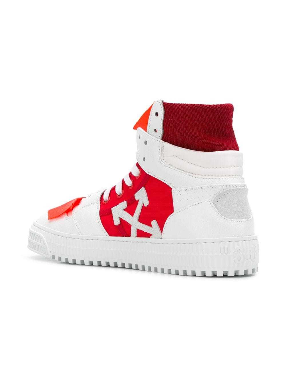 Off-White Colour Block Hi Top Sneakers
