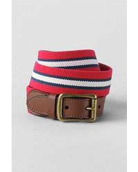 Classic Club Stripe Elastic Surcingle Belt Compass Red Stripe40