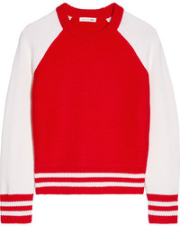 Jana two tone merino wool sweater red medium 3637591