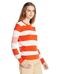 Lacoste Long Sleeve Bold Stripe Cotton Crew Neck Sweater