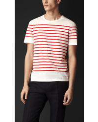 Burberry Breton Stripe Cotton T Shirt