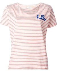 Chinti and Parker Hello Print Striped T Shirt