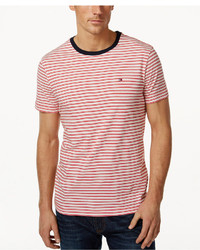 Tommy Hilfiger Marvin Striped Contrast Collar T Shirt