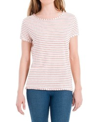 Max studio striped linen tee medium 535040