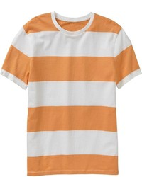White And Orange Striped Shirt | Is Shirt