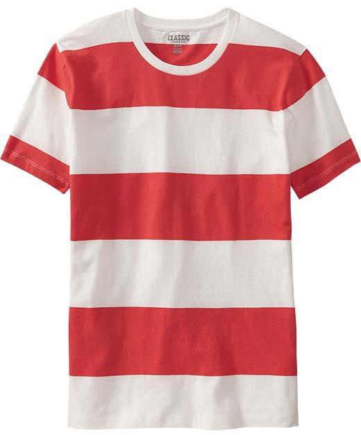 adac6f9886c9 ... Striped Crew-neck T-shirts Old Navy Rugby Stripe Tees ...