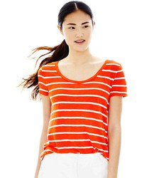 Joe Fresh Short Sleeve Striped Crewneck Tee