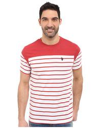 U.S. Polo Assn. Solid Stripe V Neck T Shirt