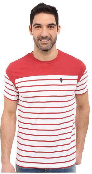 87a94e69c U.S. Polo Assn. Solid Stripe V Neck T Shirt, $34 | 6pm.com ...