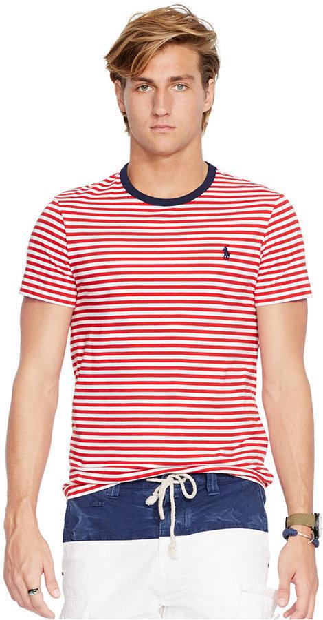 ... Polo Ralph Lauren Striped Crew Neck T Shirt ... 8633c7e010a5