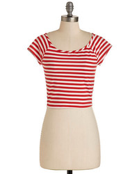 Lovely day fashion roller derby date top in red medium 257183