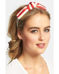 Cara Nautical Knob Headband Redwhite