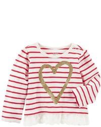 Osh Kosh Baby Girl Oshkosh Bgosh Glittery Heart Tee