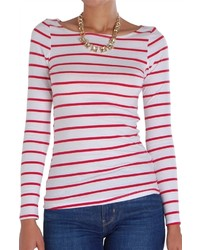 Classic striped tee long sleeve medium 1252109