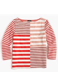 J.Crew Patchwork Striped T Shirt