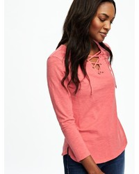 Old Navy Relaxed Lace Up Top For 19 Old Navy Lookasticcom