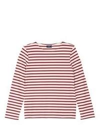 Saint James Minquiers Moderne Stripe Unisex Long Sleeve T Shirt