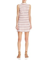 Aqua Stripe Jersey Dress