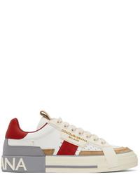 Dolce & Gabbana Custom 2zero Calfskin Low Top Sneakers