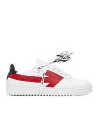 Off-White White And Red Arrows Sneakers
