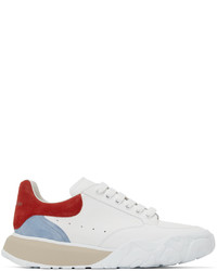Alexander McQueen White Red New Court Sneakers