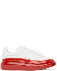 Alexander McQueen White Red Oversized Sneakers