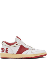 Rhude White Red Rhecess Low Sneakers