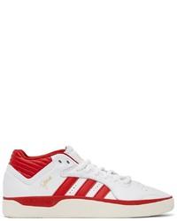 adidas Originals White Red Tyshawn Sneakers