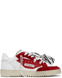 Off-White White Red Vulcanized 50 Sneakers