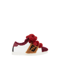 Fendi Contrast Low Top Sneakers