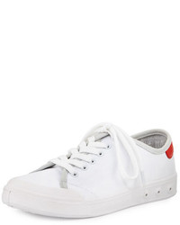 Rag and Bone Rag Bone Standard Issue Canvas Lace Up Sneaker Whitered