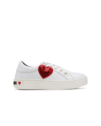 Love Moschino Sequinned Heart Patch Sneakers