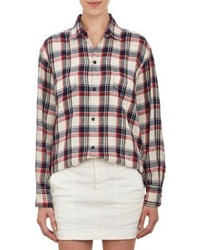 Nili Lotan Oversize Plaid Shirt