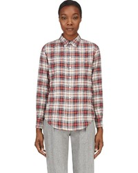 Band Of Outsiders Red Flannel Plaid Shirt