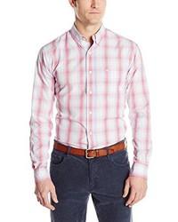 Dockers long sleeve ombre plaid button front shirt medium 354304