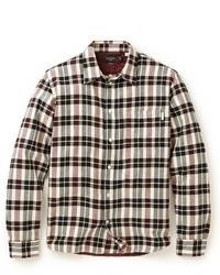 Jeans tailored plaid shirt medium 74560
