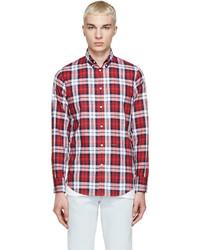 DSQUARED2 Tricolor Plaid Shirt