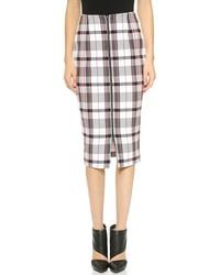 Woven check pencil skirt medium 164200