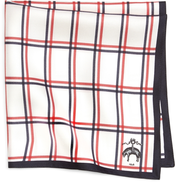 Brooks Brothers Plaid Pocket Square