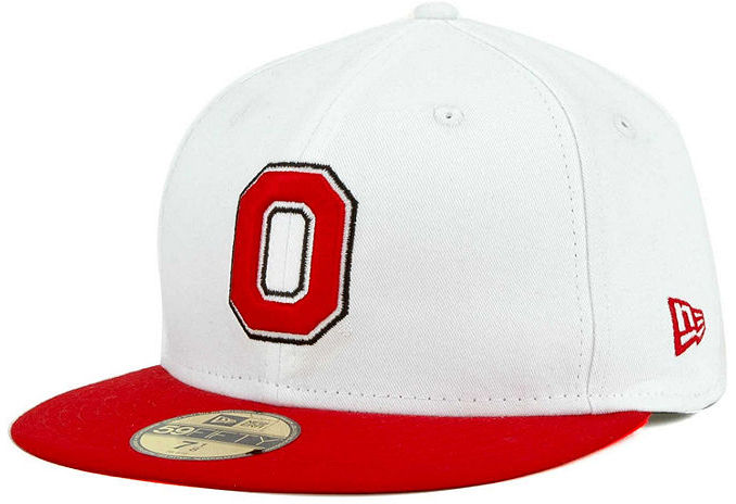 new era ohio state buckeyes ncaa white 2 tone 59fifty cap