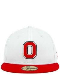 New Era Ohio State Buckeyes Ncaa White 2 Tone 59fifty Cap